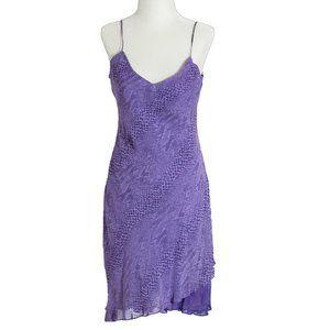 Vtg Joseph Ribkoff Womens Dress Purple Animal Sz 4